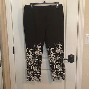 Alfani Ankle Flower Design Pants